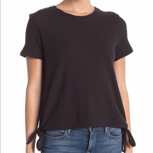 Madewell Side Tie Black Shirt